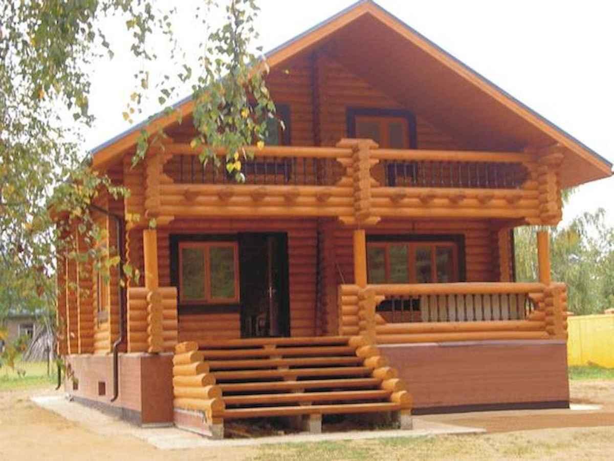 70 Suprising Small Log Cabin Homes Design Ideas (49)