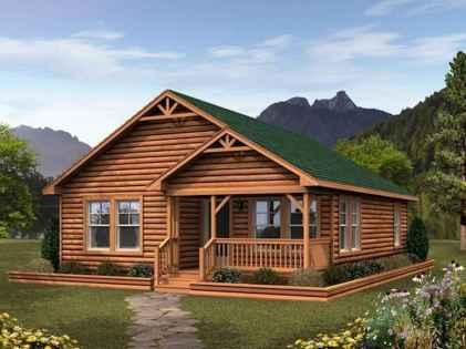 70 Suprising Small Log Cabin Homes Design Ideas (56)