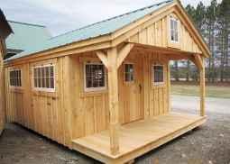 70 Suprising Small Log Cabin Homes Design Ideas (63)