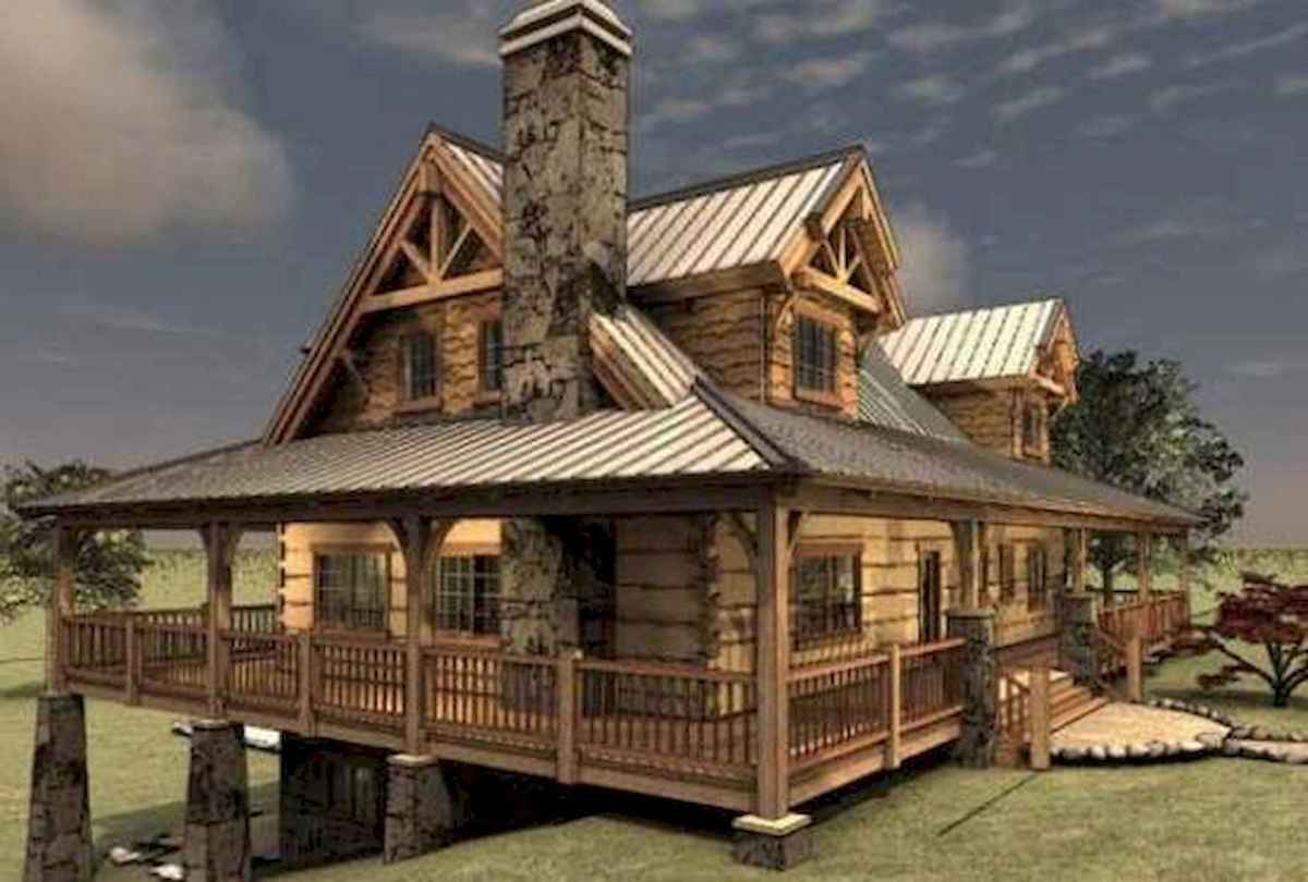 75 Great Log Cabin Homes Plans Design Ideas (27)