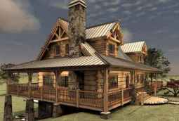 75 Great Log Cabin Homes Plans Design Ideas (27)