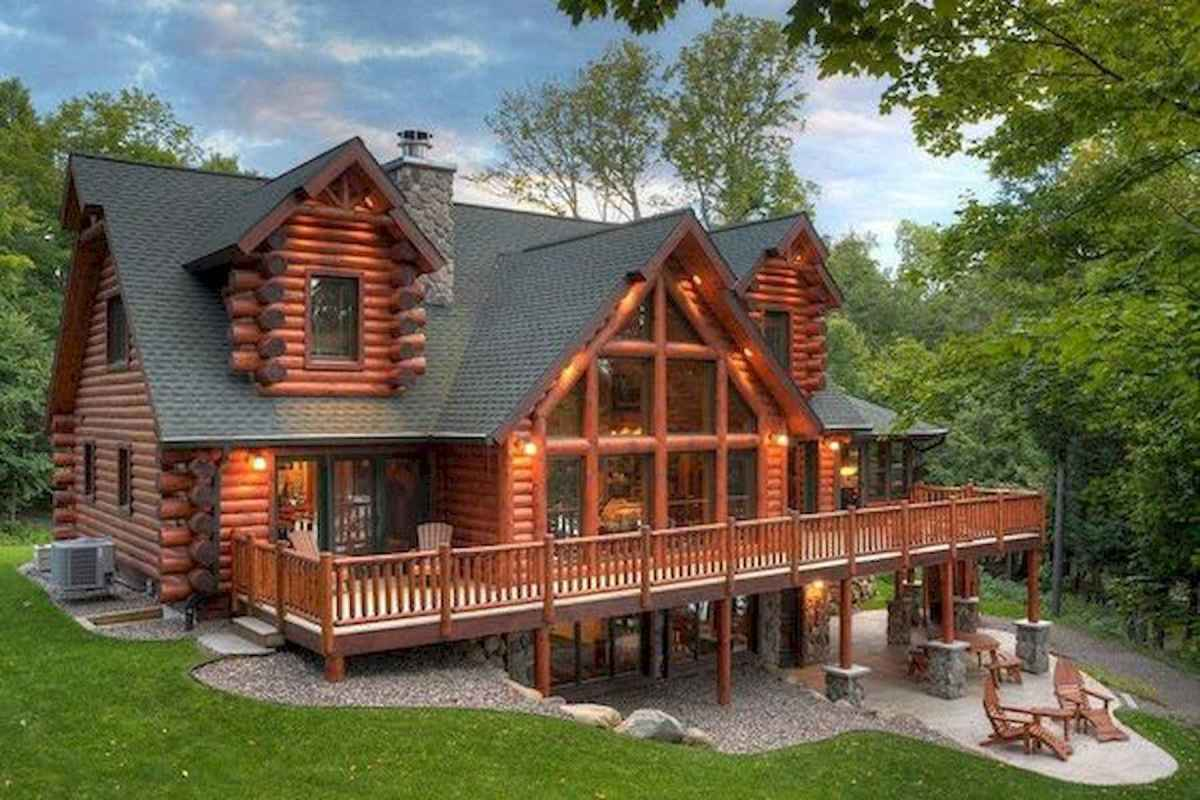75 Great Log Cabin Homes Plans Design Ideas (33)