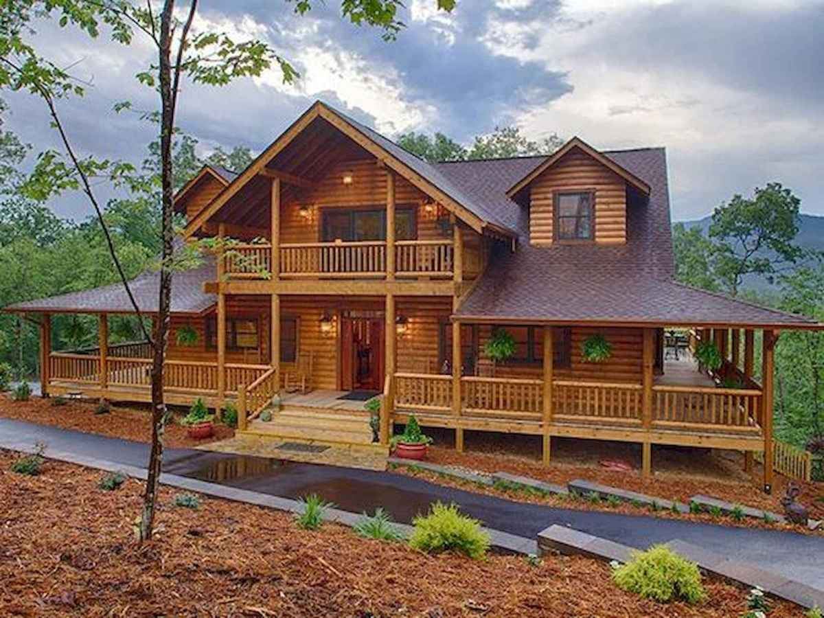 75 Great Log Cabin Homes Plans Design Ideas (41)