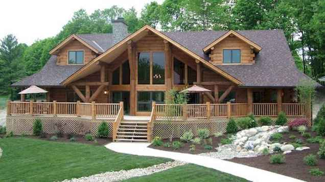 75 Great Log Cabin Homes Plans Design Ideas (75)