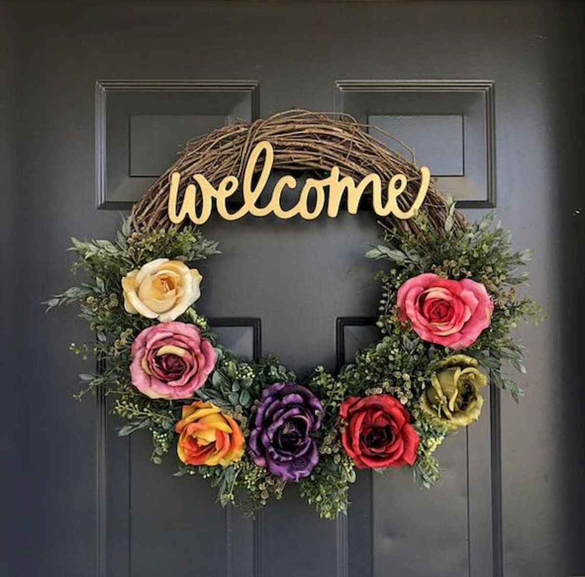 60 Favorite Spring Wreaths for Front Door Design Ideas And Decor (17)