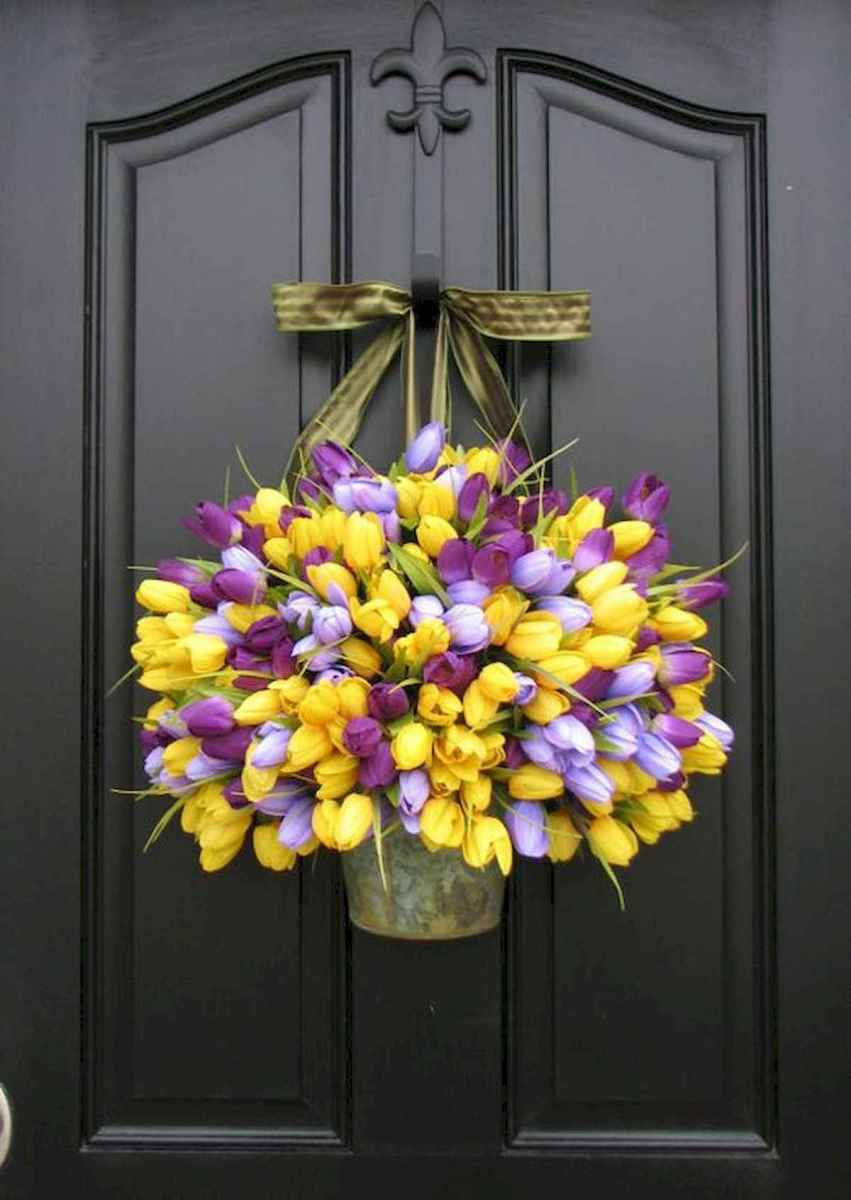 60 Favorite Spring Wreaths for Front Door Design Ideas And Decor (34)