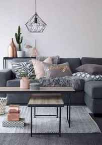 50+ Beautiful Small Living Room Decor Ideas And Remodel for Your First Apartment (33)