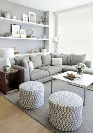 50+ Beautiful Small Living Room Decor Ideas And Remodel for Your First Apartment (40)