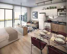 50+ Stunning Minimalist Studio Apartment Small Spaces Decor Ideas And Remodel (19)