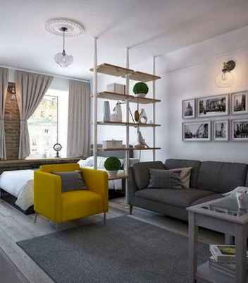 50+ Stunning Minimalist Studio Apartment Small Spaces Decor Ideas And Remodel (23)
