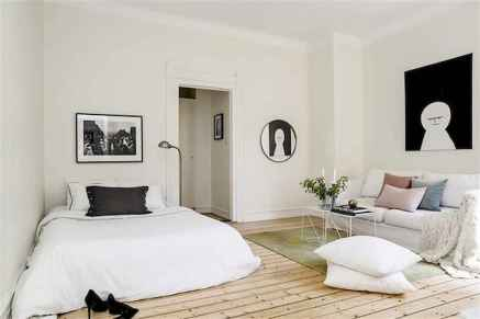 50+ Stunning Minimalist Studio Apartment Small Spaces Decor Ideas And Remodel (37)