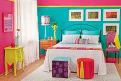 70+ Awesome Colorful Bedroom Decor Ideas And Remodel for Summer Project (71)