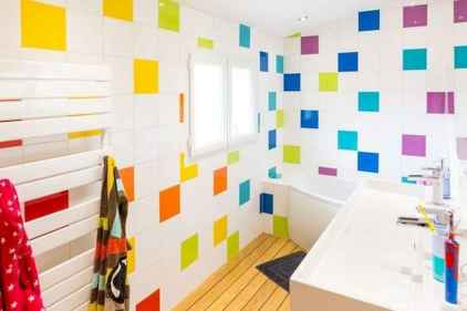 70+ Fantastic Colorful Bathroom Decor Ideas And Remodel for Summer Project (43)