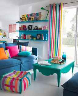 80+ Awesome Colorful Living Room Decor Ideas And Remodel for Summer Project (60)