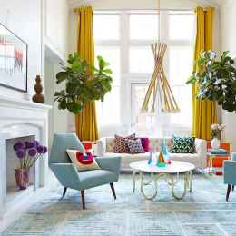 80+ Awesome Colorful Living Room Decor Ideas And Remodel for Summer Project (72)