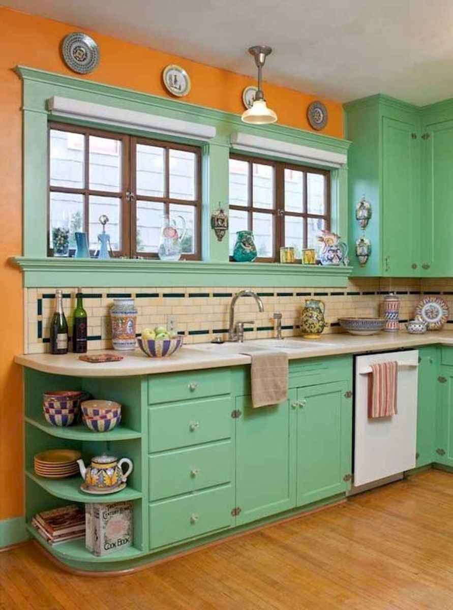 80+ Fantastic Colorful Kitchen Decor Ideas And Remodel for Summer Project (11)