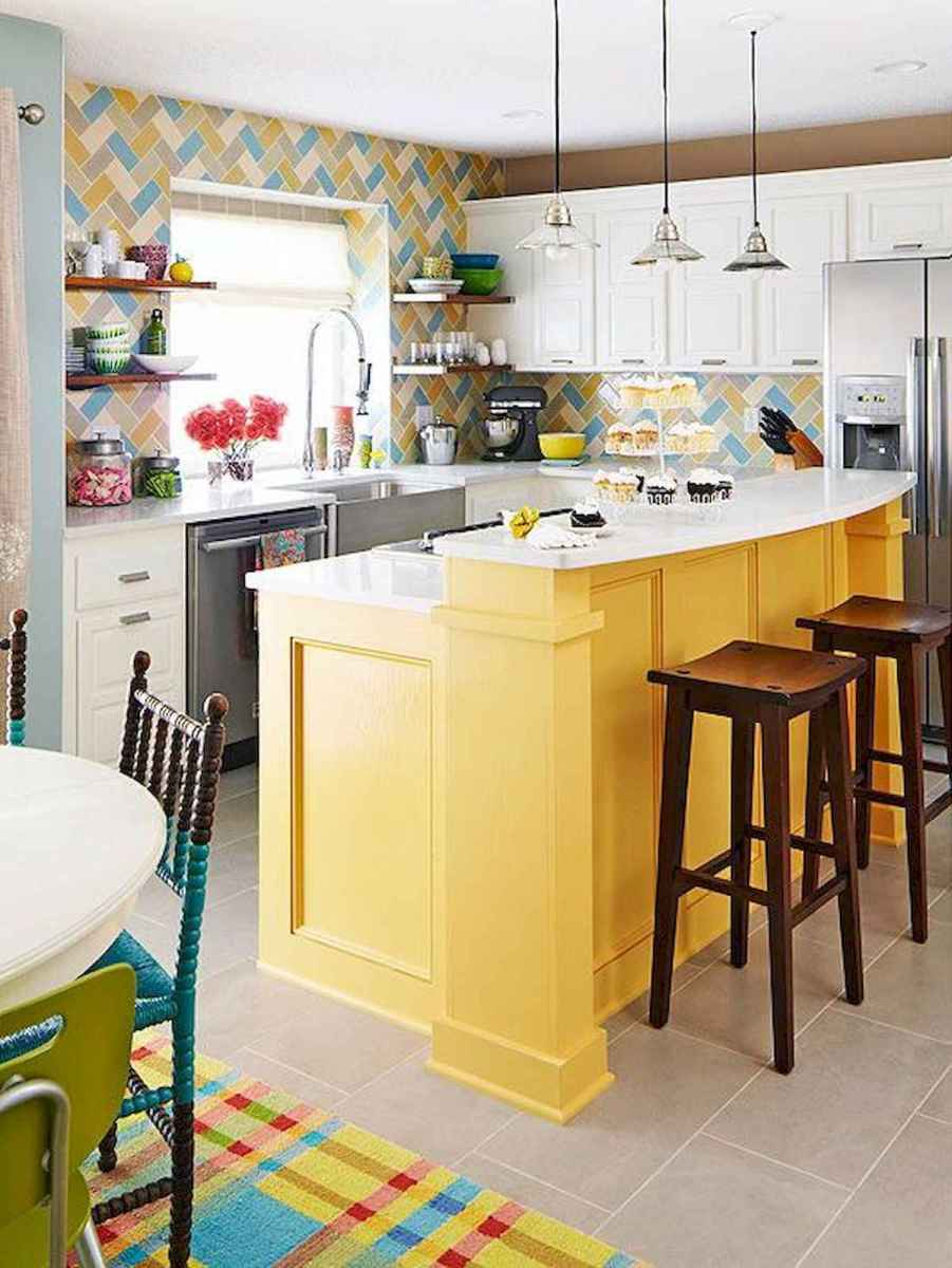 80+ Fantastic Colorful Kitchen Decor Ideas And Remodel for Summer Project (27)