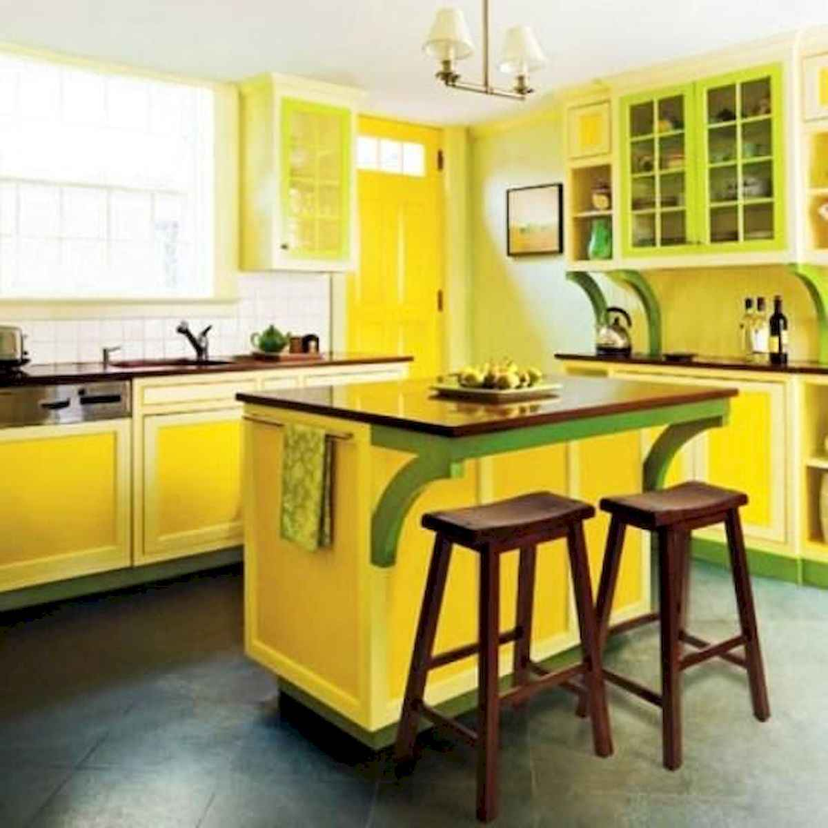 80+ Fantastic Colorful Kitchen Decor Ideas And Remodel for Summer Project (56)