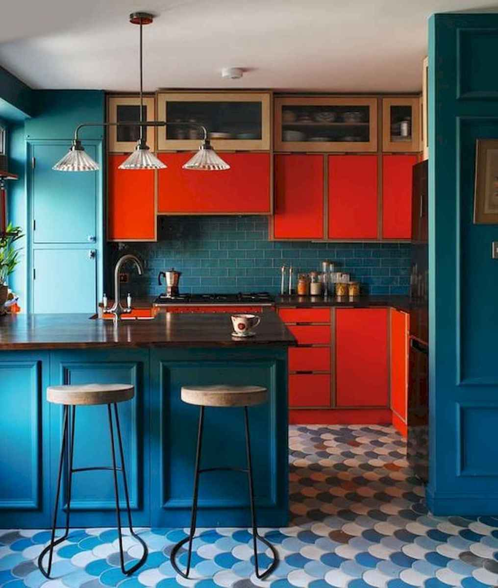80+ Fantastic Colorful Kitchen Decor Ideas And Remodel for Summer Project (72)