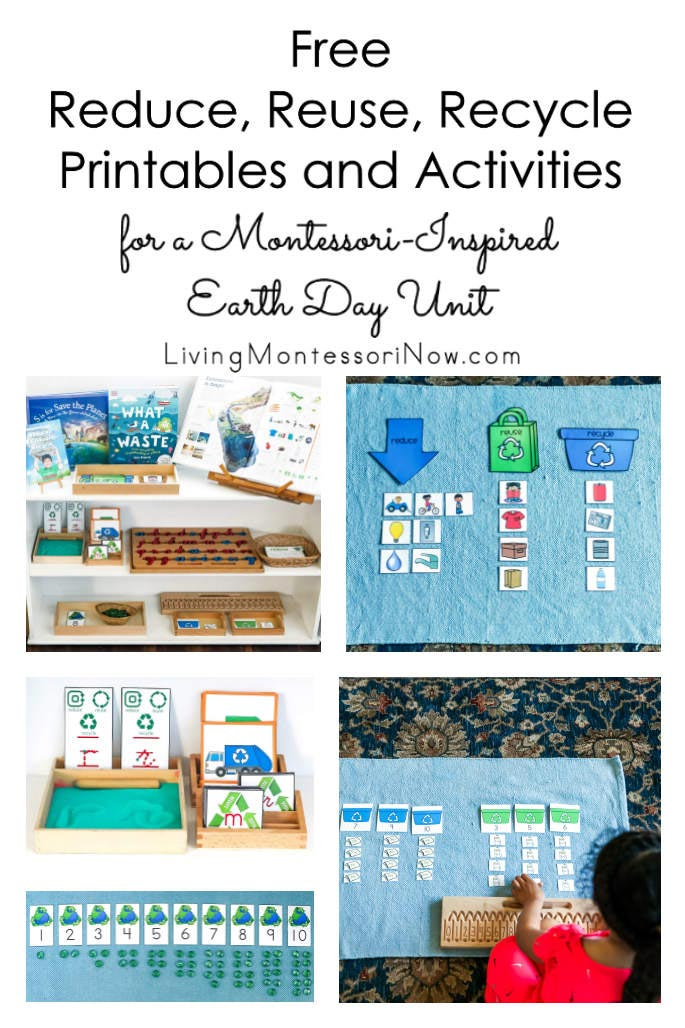 Free Reduce, Reuse, Recycle Printables and Activities for a Montessori-Inspired Earth Day Unit