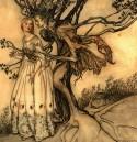 Tree & Maiden by Arthur Rackham