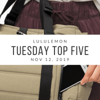 lululemon Tuesday Top 5 (11/12/19)
