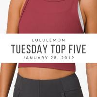 lululemon Tuesday Top 5 (1/28/20)