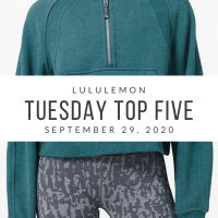lululemon Tuesday Top 5 (9/29/20)