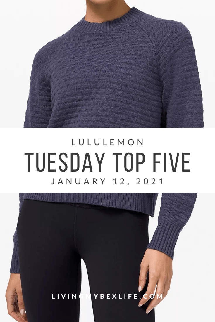 lululemon Tuesday Top 5 (1/12/21)