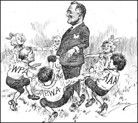 Ring Around the Rosey - Political Cartoon of 1938 | Living New Deal