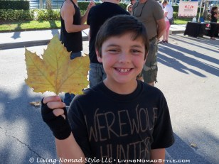 The youngest Nomad, Trevor, found a huge leaf. His brothers said it was fake. But, upon close examination...it was indeed real.
