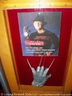 Freddy Kruger's knife glove seen inside Planet Hollywood.