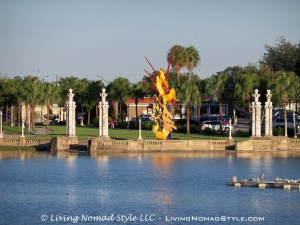 Lakeland Lake With Sculpture