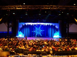 The auditorium for The Frozen Show.