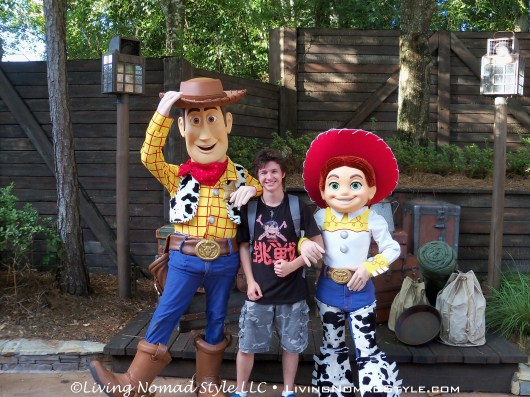 Noah with Woody and Jessie