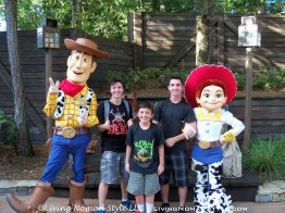 The Boys with Woody and Jessie