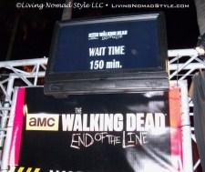 Walking Dead Wait Time