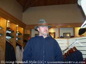 Chase Goofing Around With Hats In Wine Store