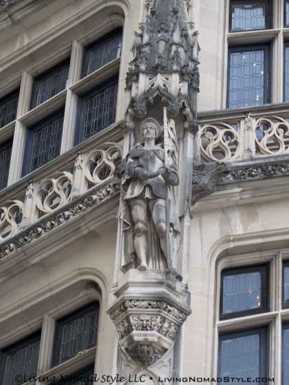 Knight Carving By Window