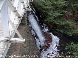Lake Overflow From Bridge