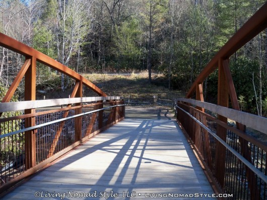 Man Bridge Over Little River At Hooker Falls