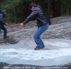 Noah Twisting and Sliding on Ice