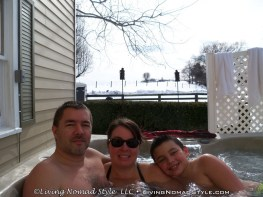Chase Mandy & Trevor - Hot Tubbing With Snow On The Ground