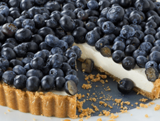 Annie's Blueberry Cheesecake Tart with Honey Bunny Crust