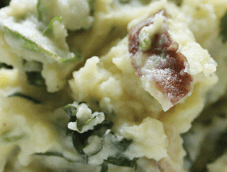 Spinach Kale Mushroom Mashed Potatoes