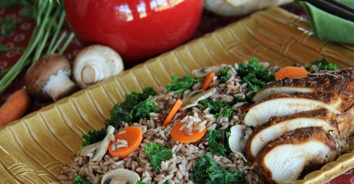 Ginger Miso Chicken With Countrywild Rice