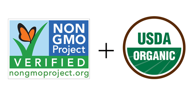 Non-GMO Project Verified Plus Organic, Gold Standard