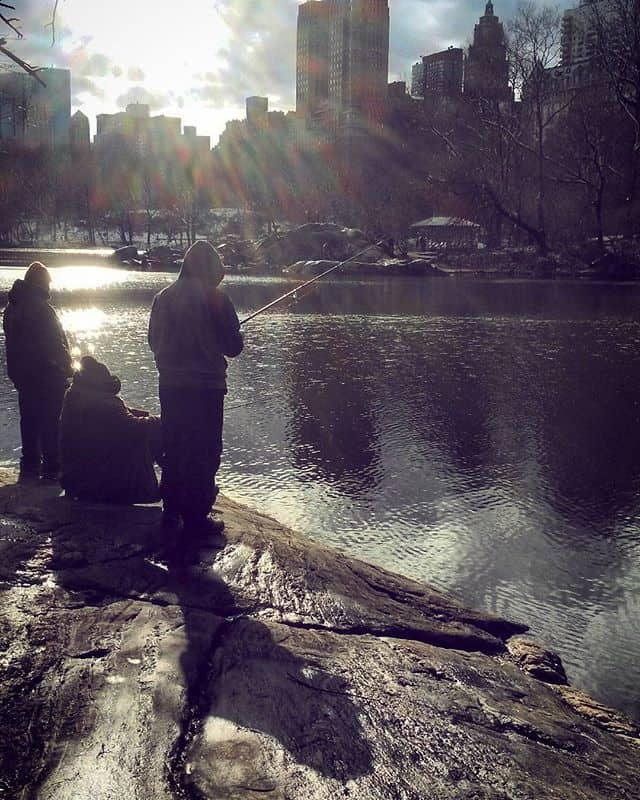 fishermen in Central Park NYC