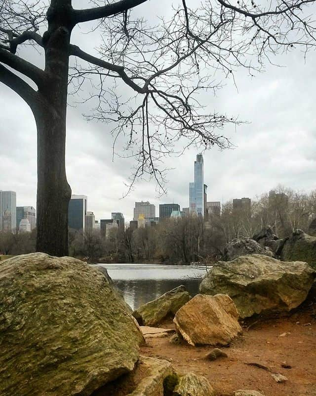 view on Manhattan from Central Park NYC