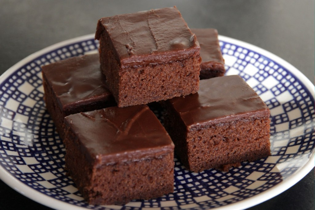 Buttermilk Brownies on plate